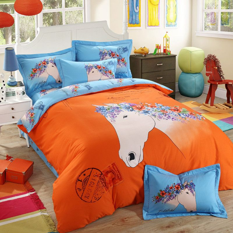 Girls And Kids Bed Cover Sissi Hello Kitty Super Mario Scooby Doo Spongebob  Barbie Pokemon Totoro