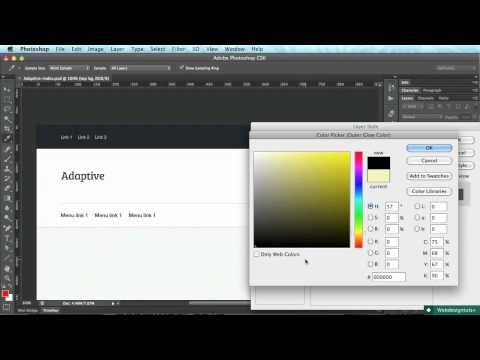 Adaptive Blog Theme: Starting Out in Photoshop