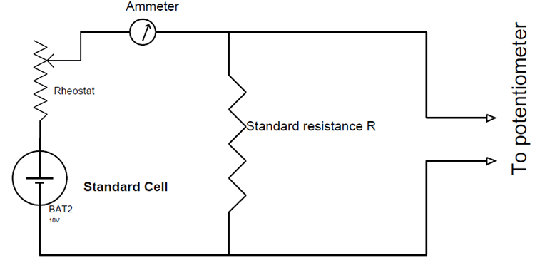 Circuit For Calibration Of An Ammeter In 2020 Ohms Law Voltage Divider Circuit Diagram