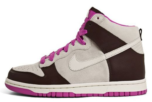 Nike Women's Dunk High, Brown + Pink | co: KicksOnFire | www.chillbywill