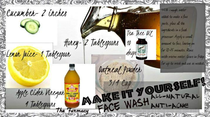 How to make you own all-natural face wash - anti-acne