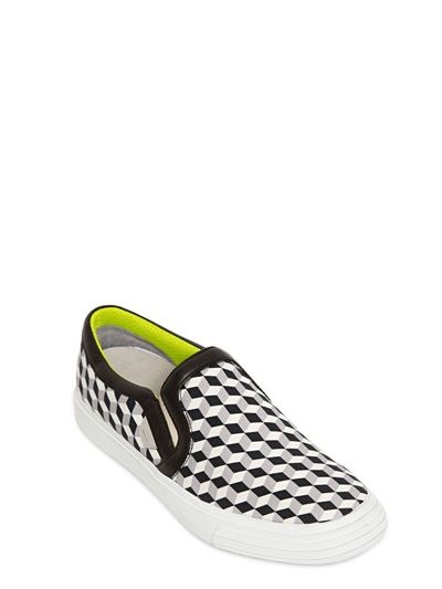 SNEAKERS SLIP ON IN TELA DI COTONE