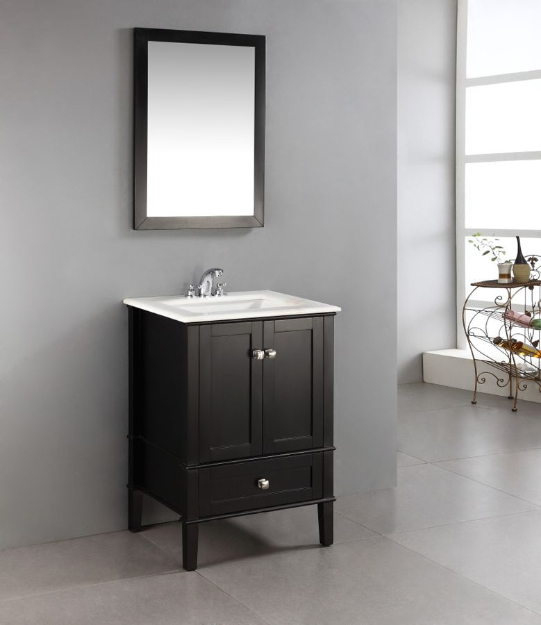chelsea black bathroom vanity 24 inch nl rosseau es 24 2a by