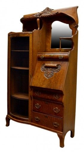American Oak Side By Side Secretary, Rockford Chair U0026 Furniture Company,  Illinois, C. 1900