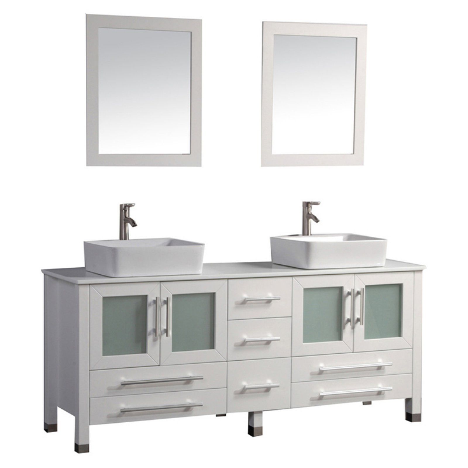 Mtd Vanities Malta 71 In Double Sink Bathroom Vanity Set Double