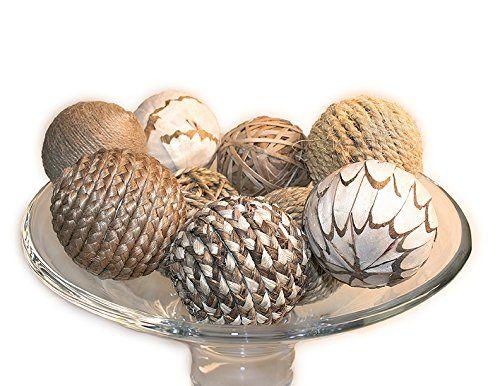 Decorative Balls For Bowls Amazon  Hosley's Elegant Expressions Brown Decorative Bowl