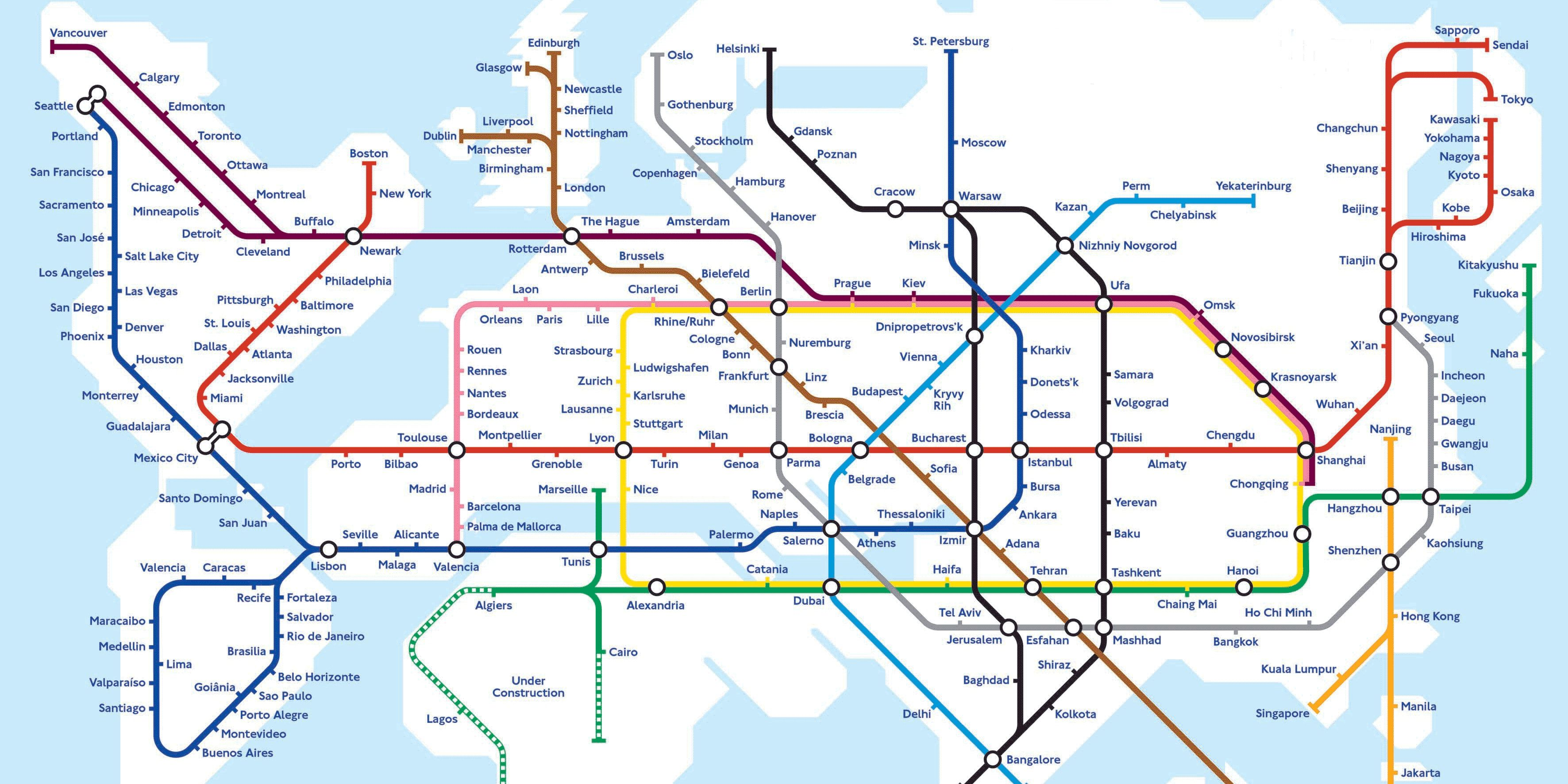 San Diego Subway Map.World Map Shows What A Hyperloop Future May Look Like Technology