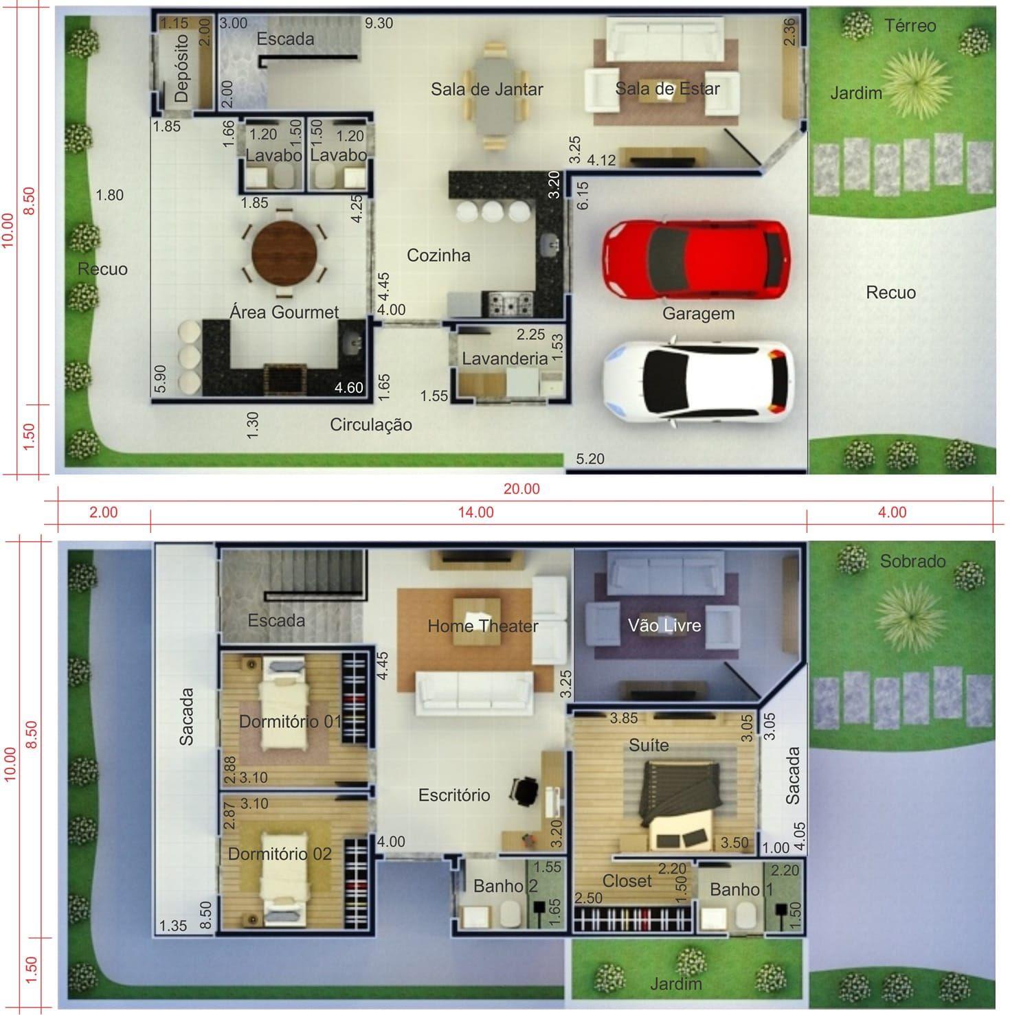 Plano de casa con balc n plano para terreno 10x20 planos - Casa con terreno ...