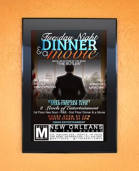 Tuesday Night Dinner  A Movie Event Flyer Design  Ariesgdim