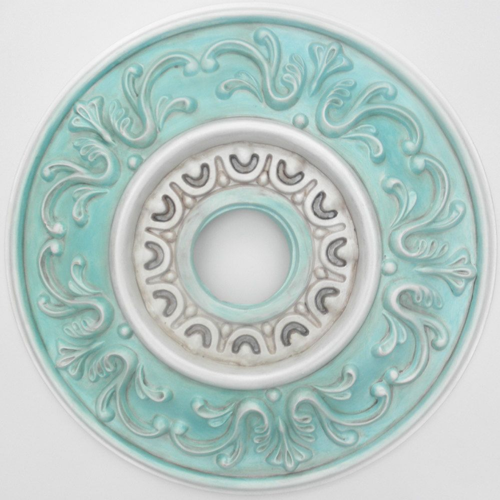 South Beach Ceiling Medallion Hand Painted Amp Distressed In