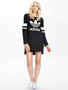 buzo adidas dress black | Elbise, Tişört