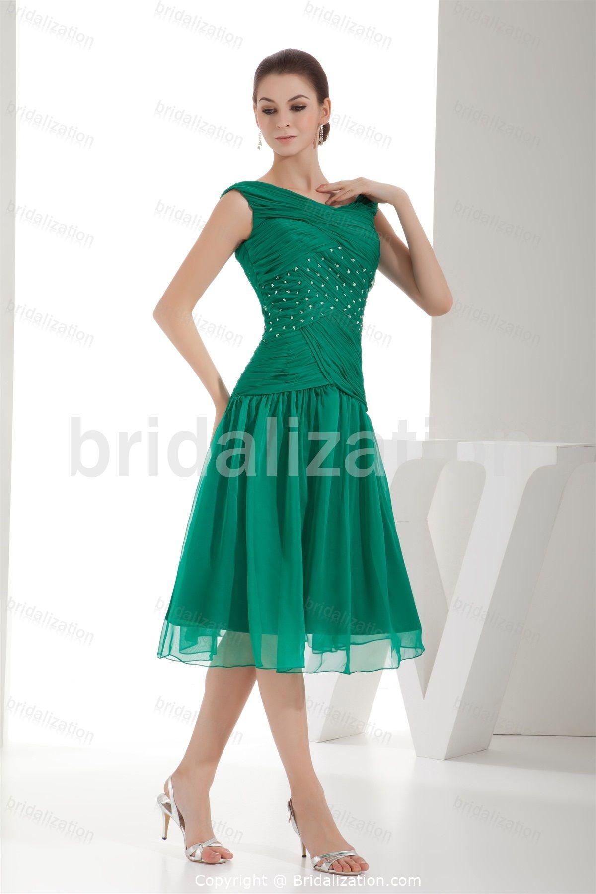 criss cross tea length line mother of the bride dress Different ...