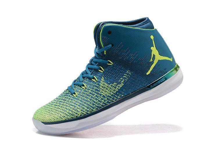hot sale online 79515 5c2a6 Latest Jordan Basketball Shoes Air Jordan XXX1 31 Rio Green Abyss Ghost  Green White 845037 325