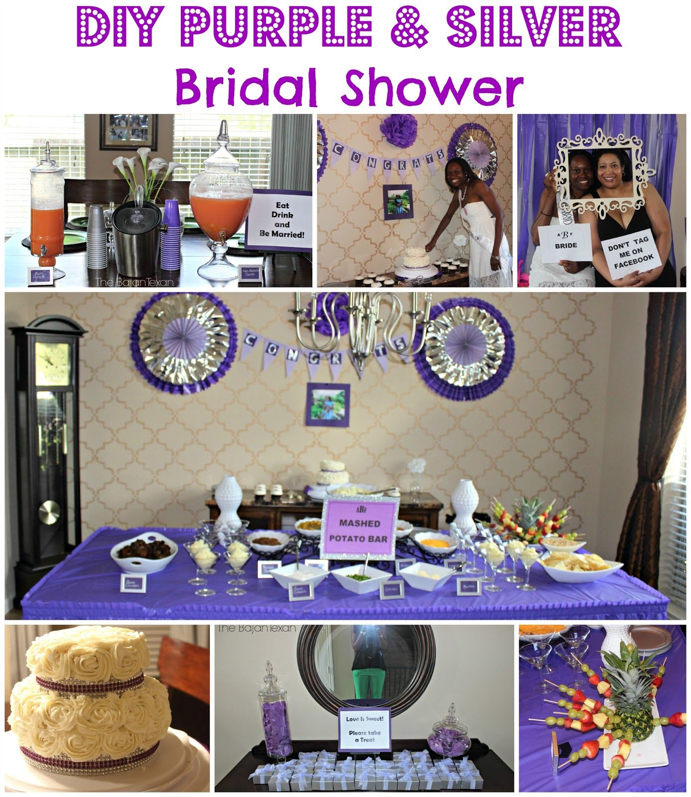 Diy Bridal Shower Purple And Silver Bridal Shower Purple