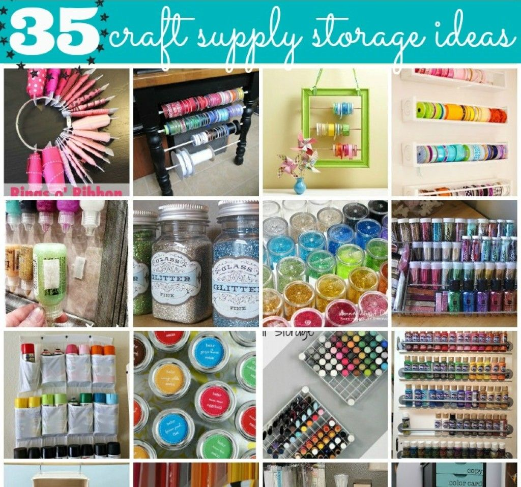 35 Crafty Craft Storage Solutions  sc 1 st  Pinterest & 35 Crafty Craft Storage Solutions | Craft storage Crafty craft and ...
