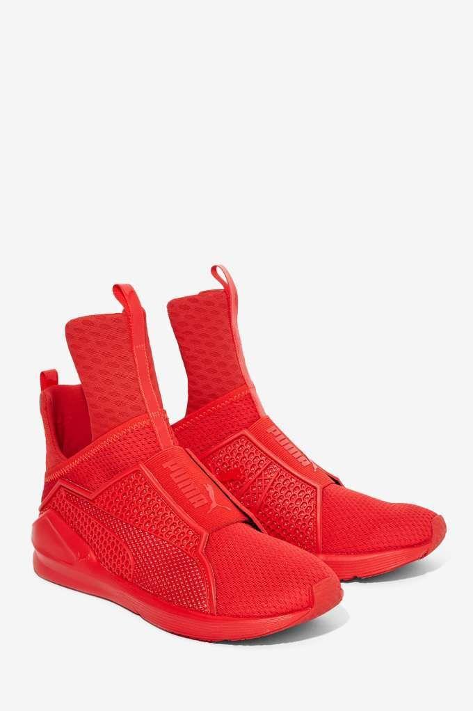 Rihanna x Puma Fenty Trainer - Red - Sneakers  33aa58792