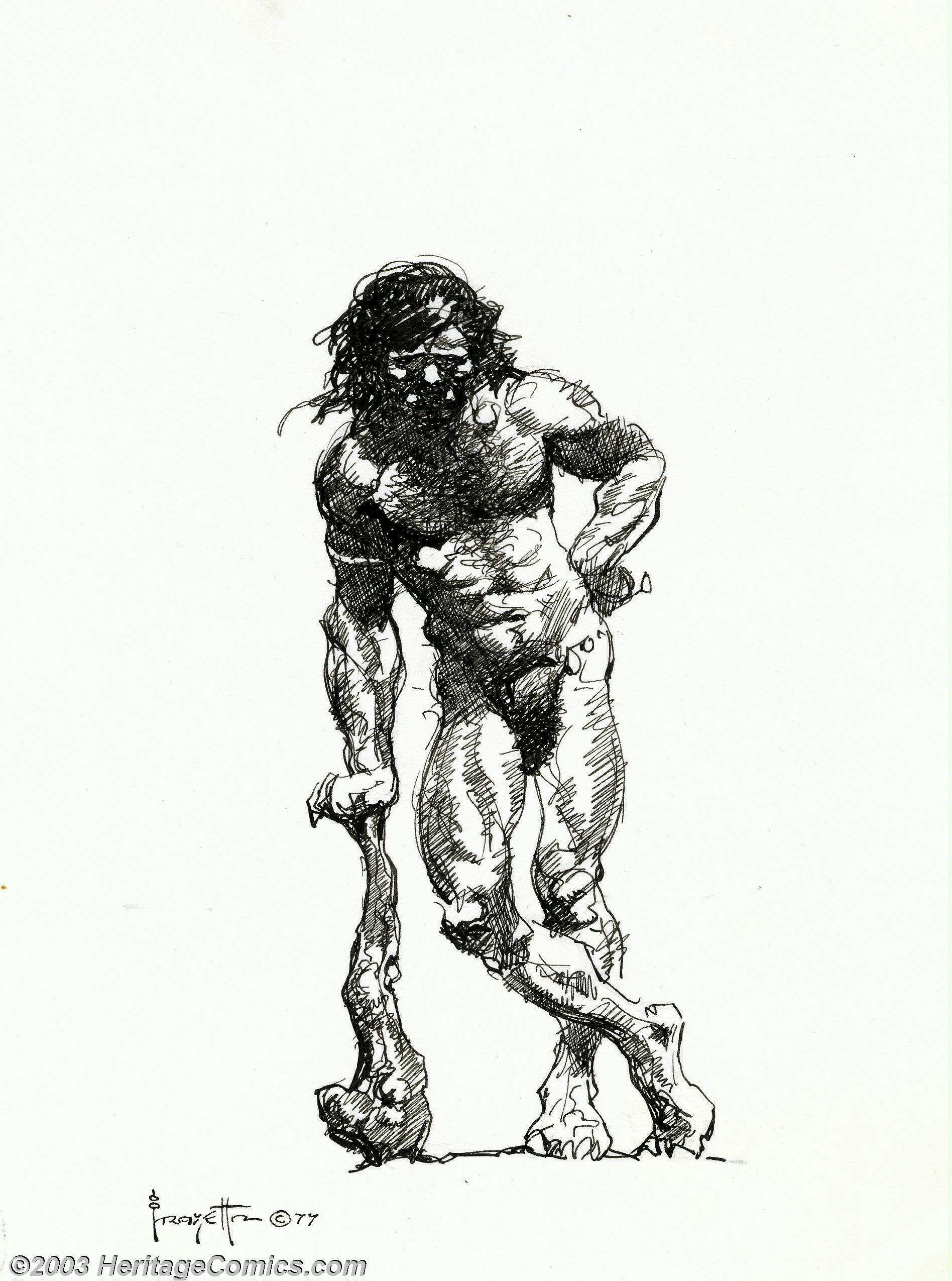 Nude male illustrations
