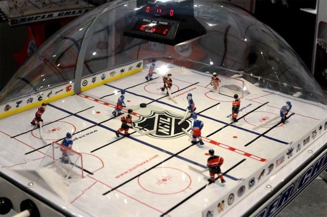 This Classic Bubble Hockey Table Can Be Yours For A Few Grand Hockey Themed Room Hockey Bubbles
