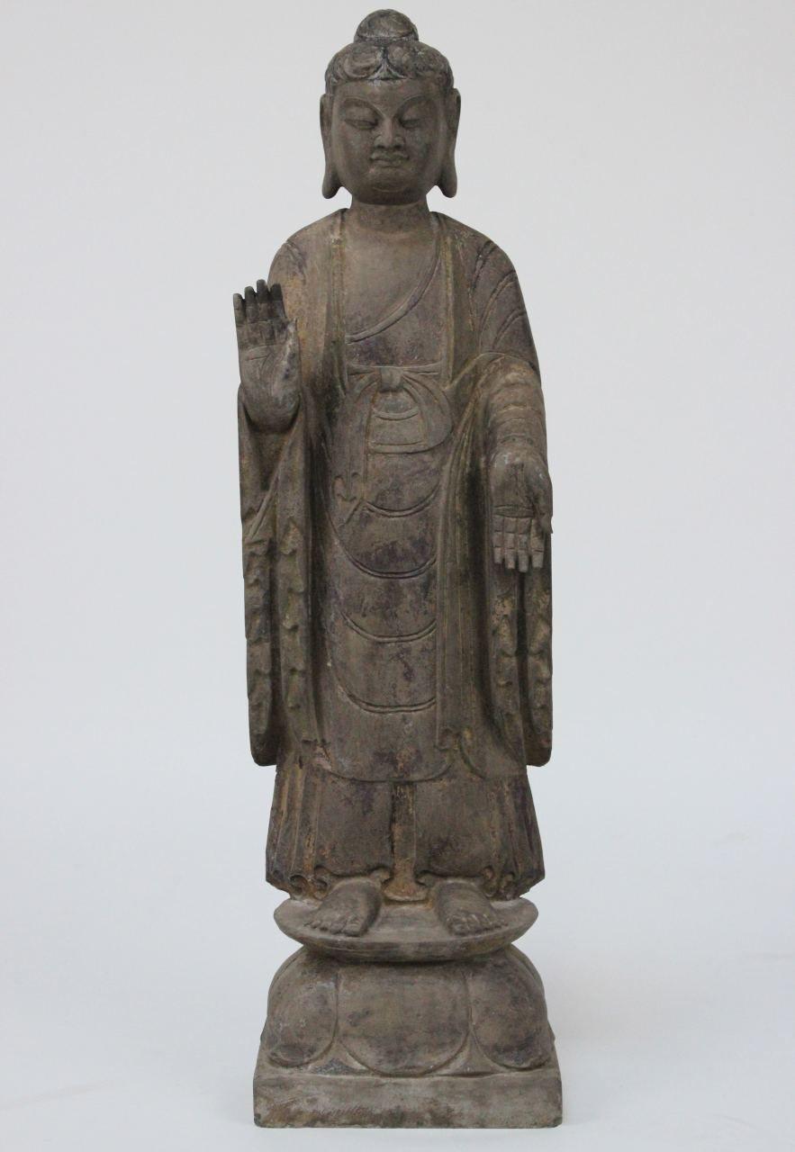 Stehende Garten Buddha Figur Aus Naturstein Die Einzigartige Buddha Statue Ist Ein Angenehmer Blickfang Fur Ihren Garten S Buddha Figur Buddha Buddha Statuen