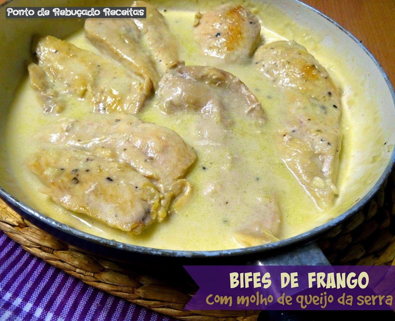 Bifinhos de frango com molho de queijo da serra