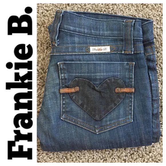 Frankie B. Jeans - DISTRESSED Frankie B #302745 boot cut jean size 4