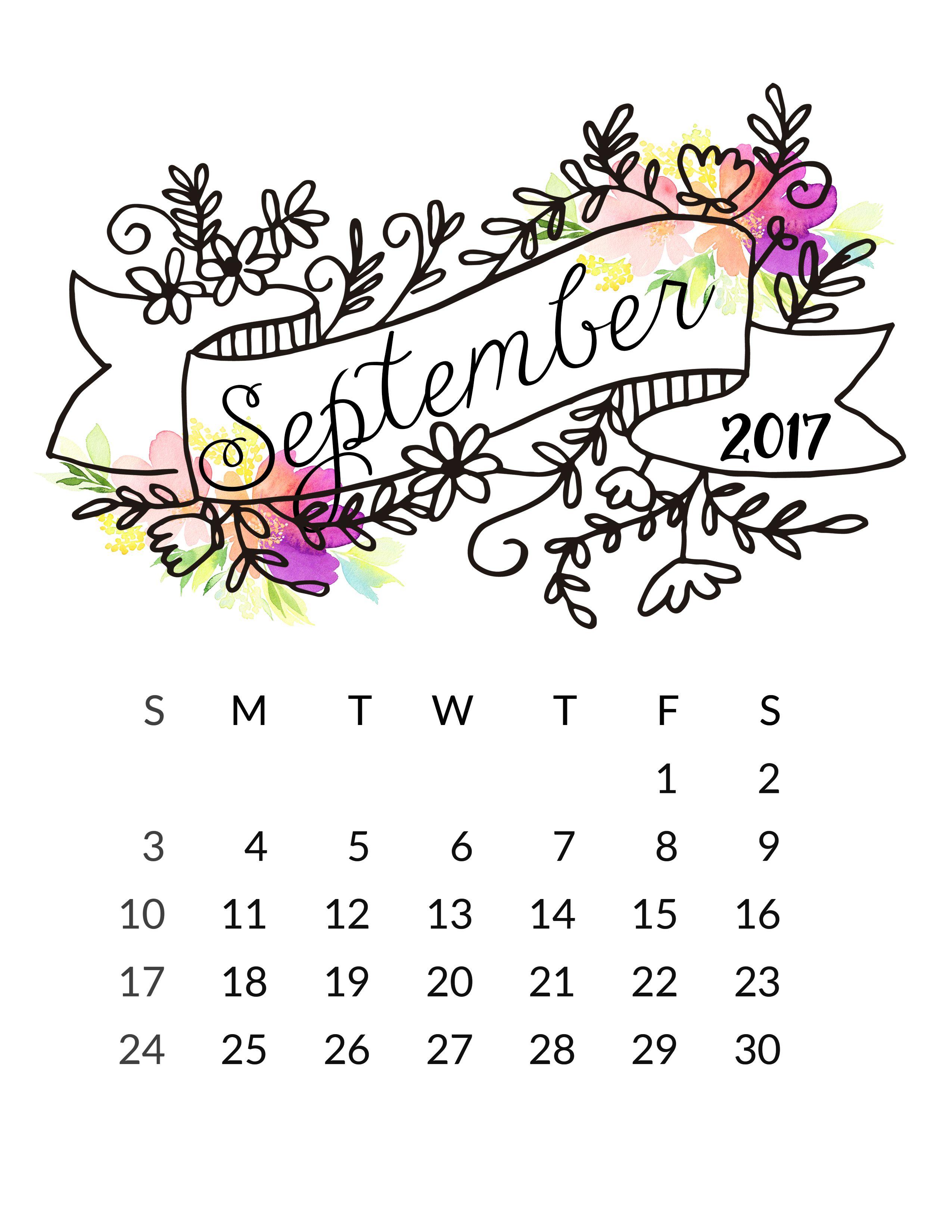 Calendario Dibujo Septiembre.Septiembre Dibujos O Ideas Calendario Septiembre