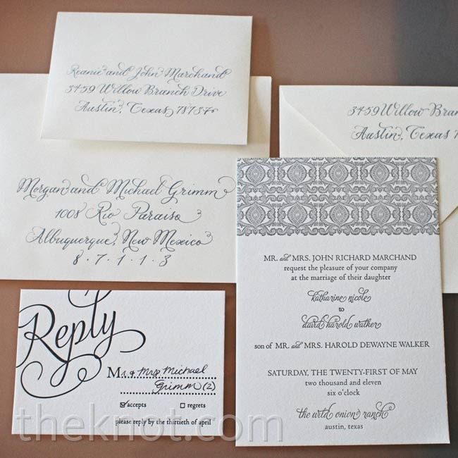 Formal Script Invitations Eclectic Images Www Theknot Com Wedding Website Free Wedding Stationery Invitations