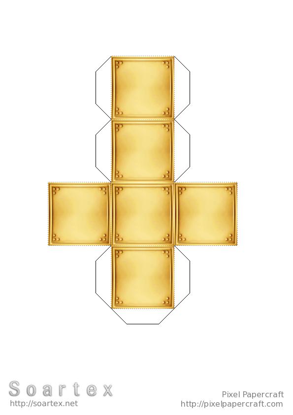Papercraft Gold Block Soartex Fanver Paper Crafts Gold Paper Dolls