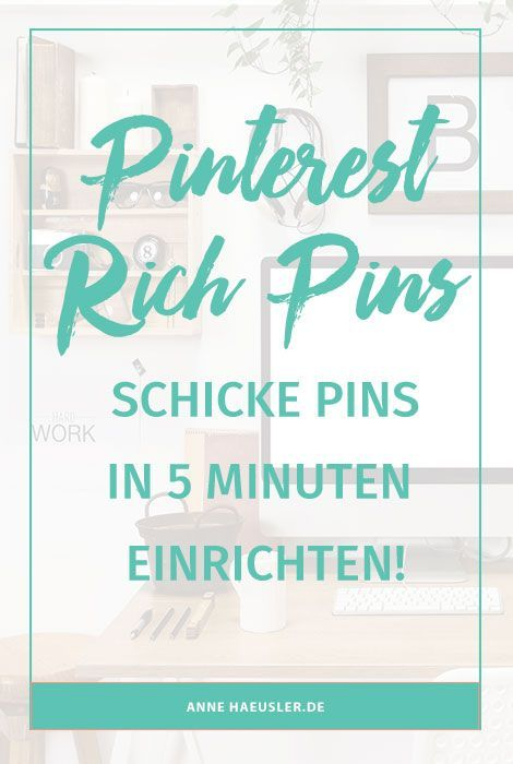 pinterest rich pins einrichten die 5 minuten anleitung pinterest deutsch tipps bloggen. Black Bedroom Furniture Sets. Home Design Ideas