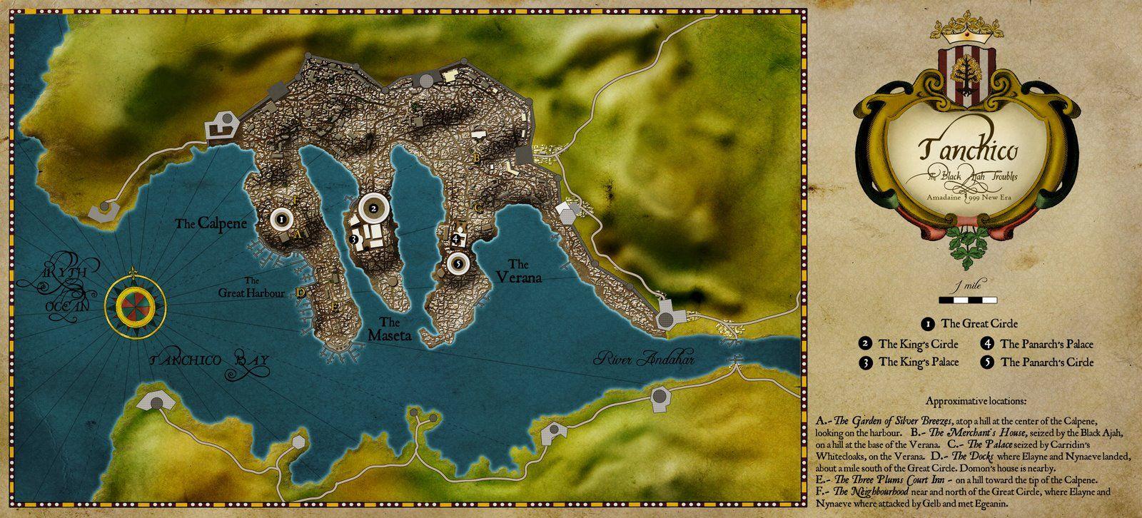 Tanchico fantasy map map wheel
