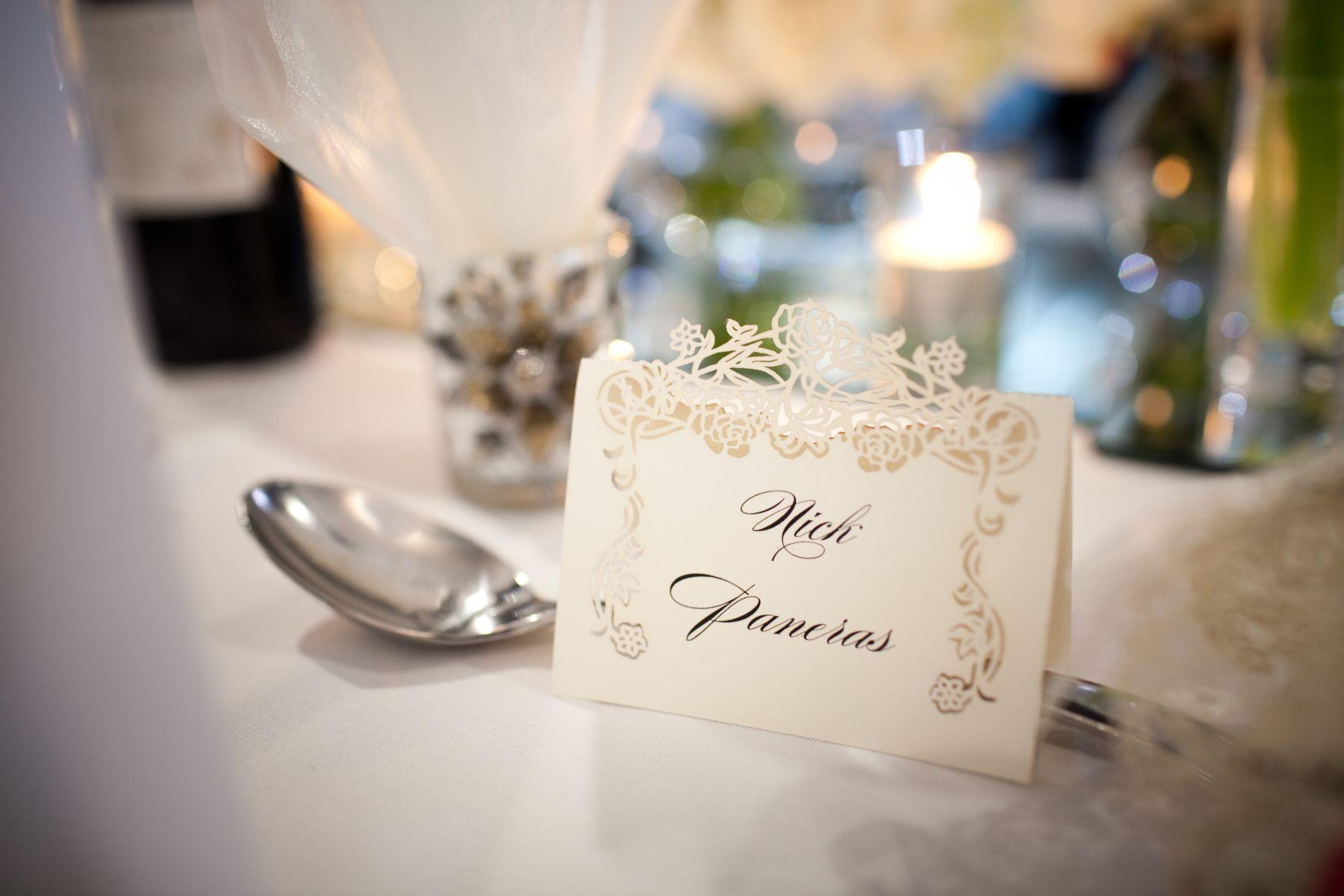 laser cut detail wedding place cards | Christie\'s Wedding ...