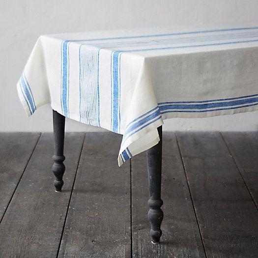 Lithuanian Linen Tablecloth, Market Stripe | Colors & Fabric