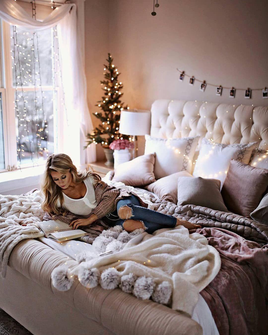 Tumblr Bedroom Ideas On Instagram Marry Christmas Home Decor Bedroom Remodel Bedroom Bedroom Design