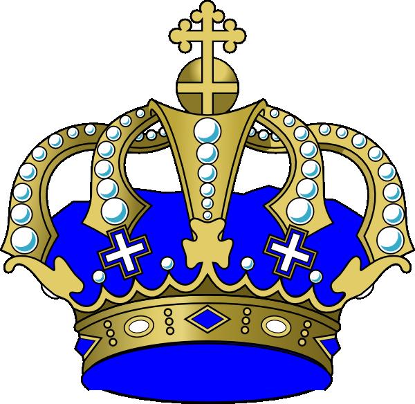 Blue Crown Clip Art At Clker Com Vector Clip Art Online Royalty Crown Clip Art Blue Crown Royalty