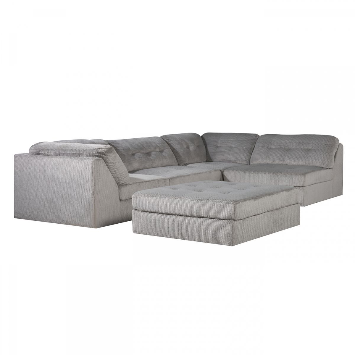 Badcock Amp More Venus Grey 5 Pc Modular Sectional Grey