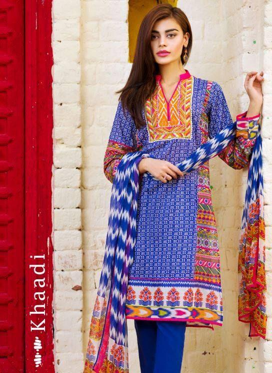 bd94c3974 Khaadi Lawn Chiffon Eid Dresses Designs Collection 2018-2019