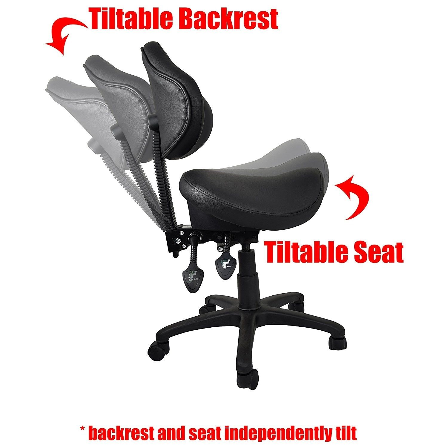 2xhome Ergonomic Adjustable Rolling Saddle Stool Chair with Back Support great for Home u0026 Office Exam Waiting Rooms u0026 More Black  sc 1 st  Pinterest & 2xhome Ergonomic Adjustable Rolling Saddle Stool Chair with Back ...