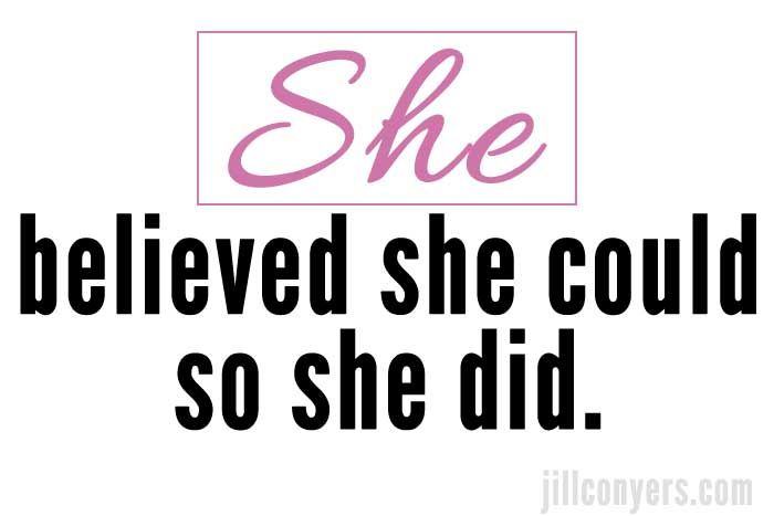 She believed! jillconyers.com #inspiration #believe #activeliving #bestlife @jillconyers