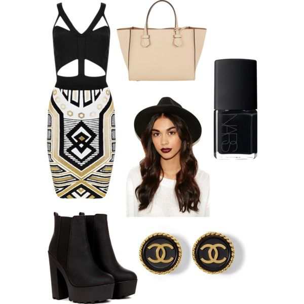 A fashion look from October 2014 featuring Moreau tote bags and Missguided. Browse and shop related looks.