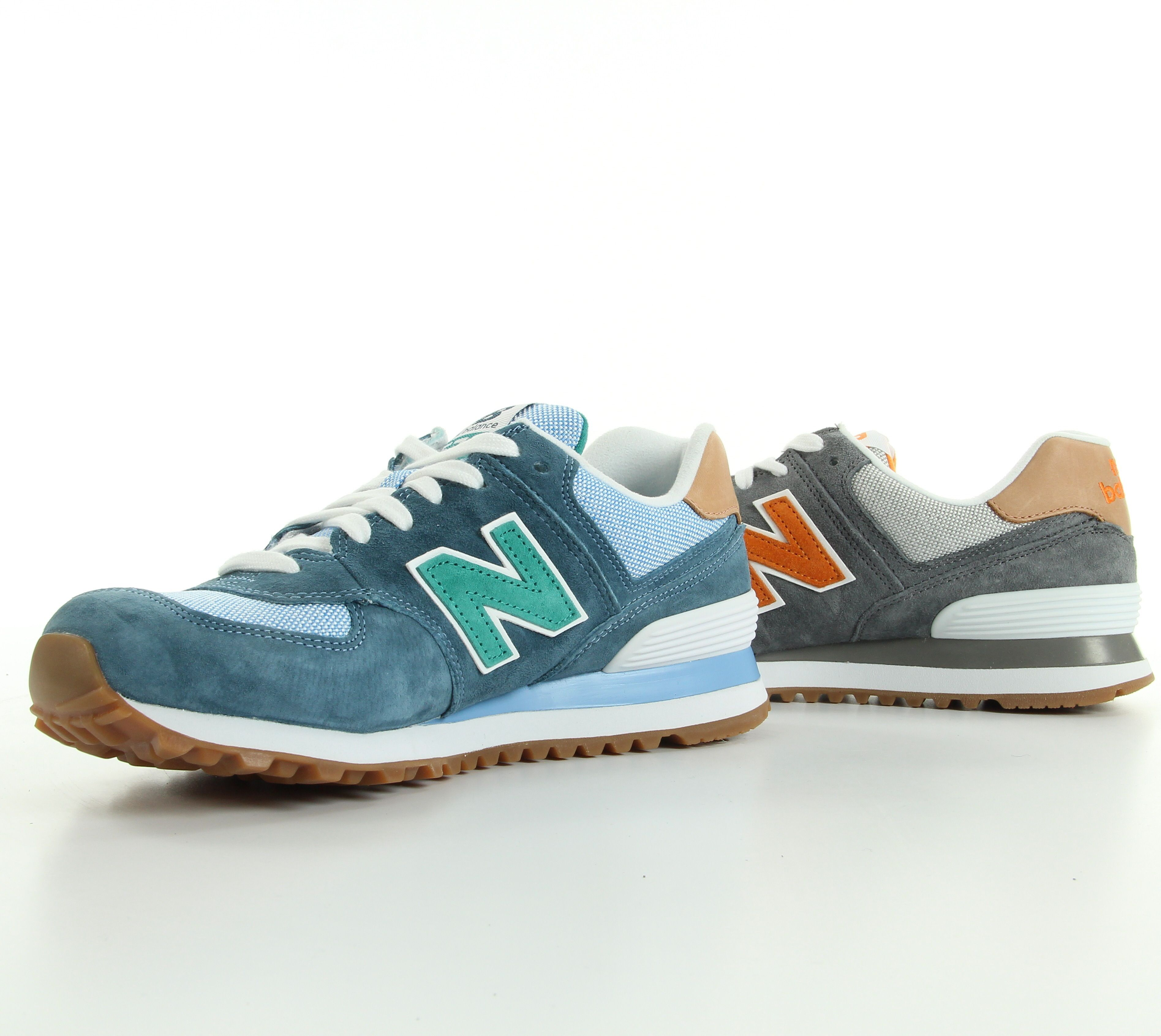 new balance gris orange turquoise