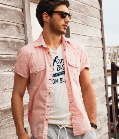 bf3814aa7a H M Shirt, $19.95 Fashion Moda, H&m Fashion, Latest Mens Fashion, Fashion  Outfits