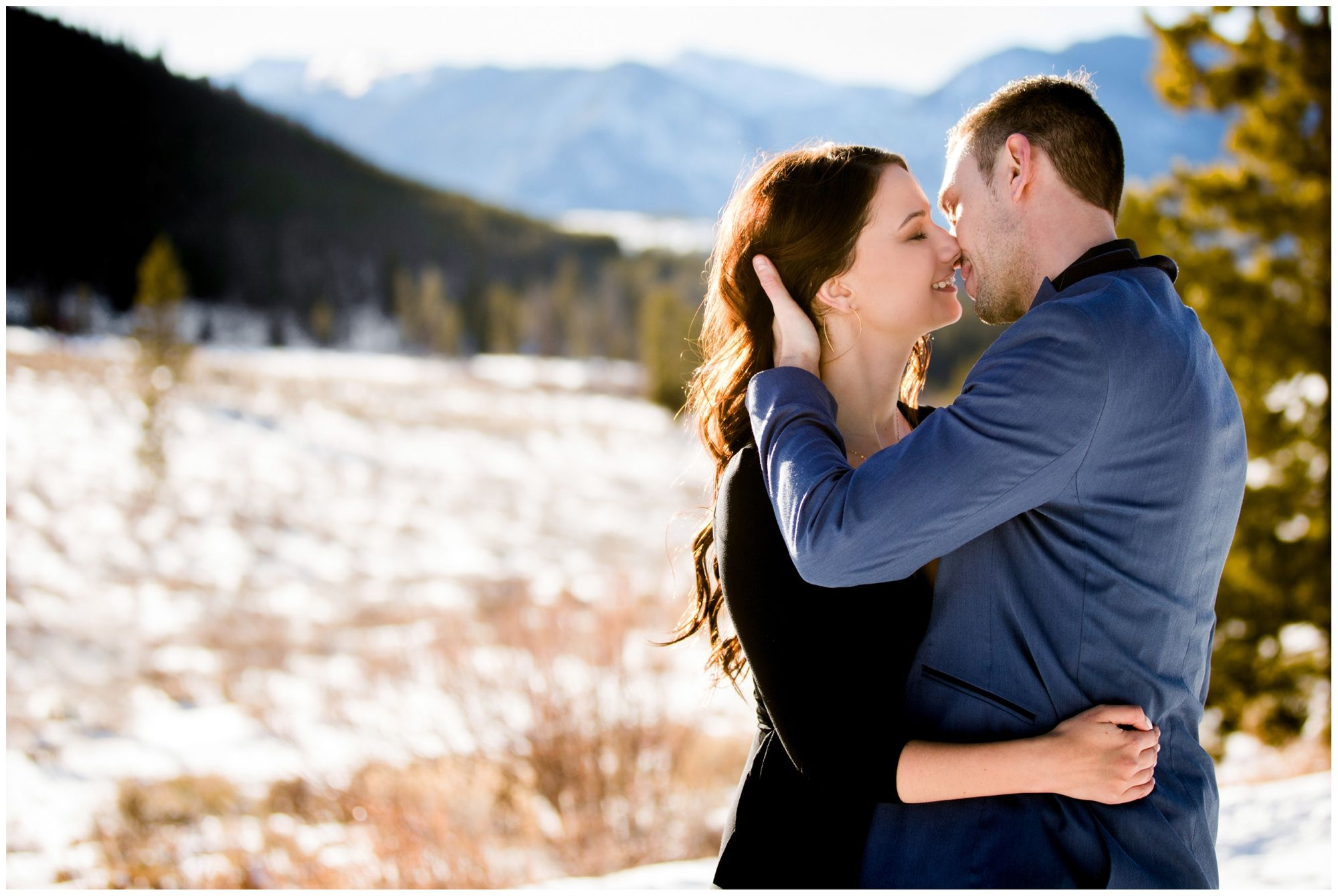 Breckenridge Engagement Pictures Colorado mountain