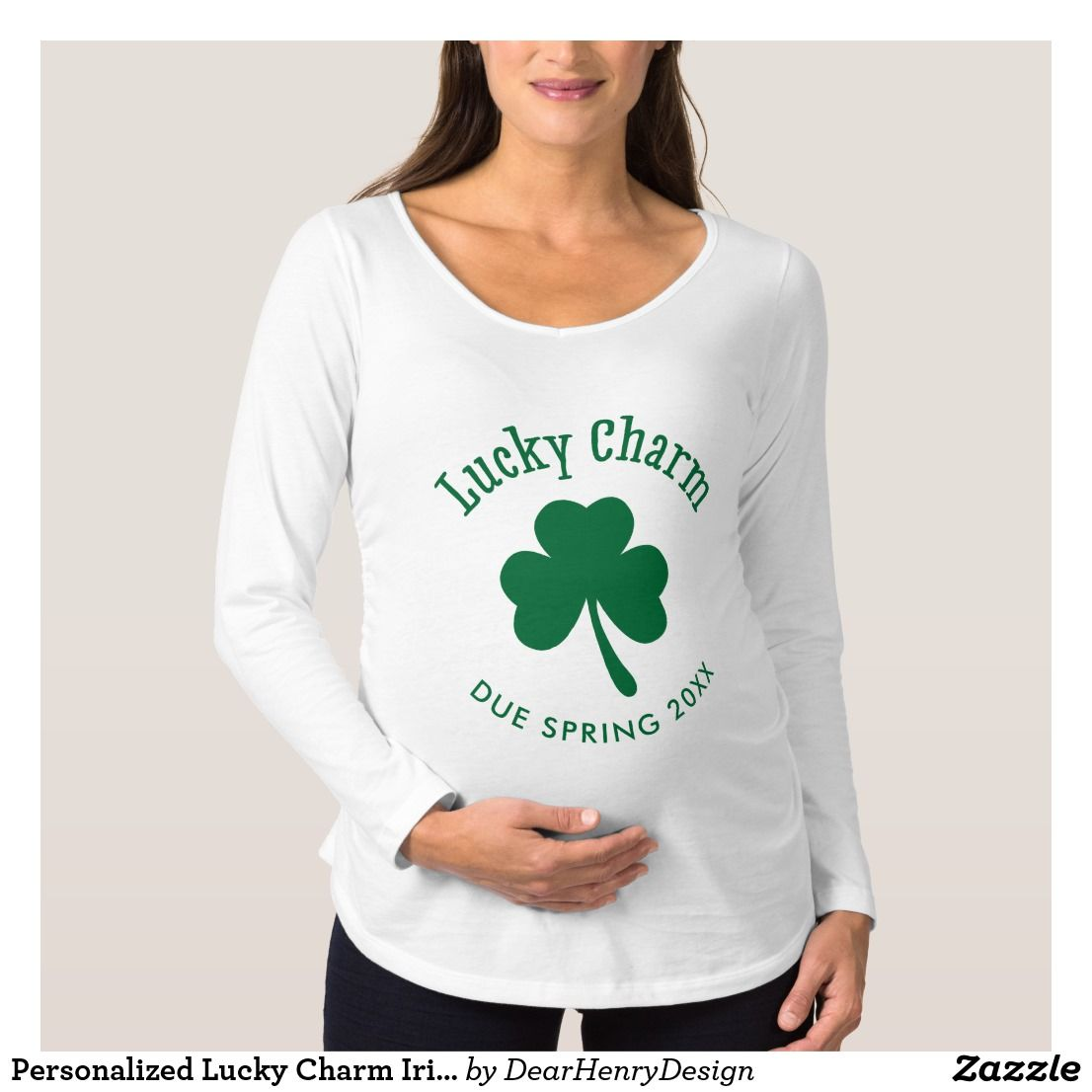 a64e6ff0a3949 Personalized Lucky Charm Irish Maternity Shirt #stpatricksday st.patricks  day #shamrock #sneakers