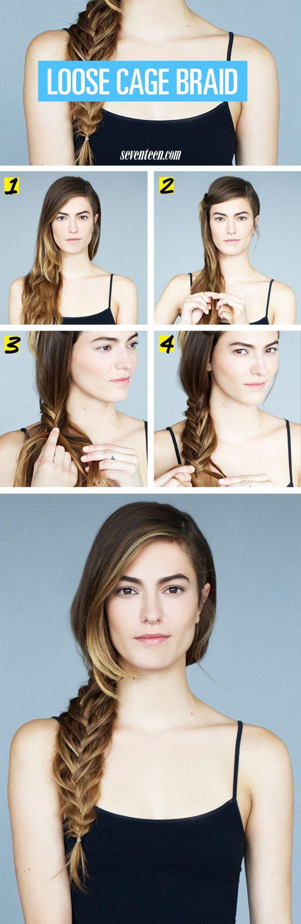 Hair How-To: Boyfriend Braid (AKA The Loose Cage Braid)