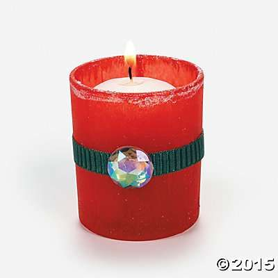 DIY Christmas Votive Idea