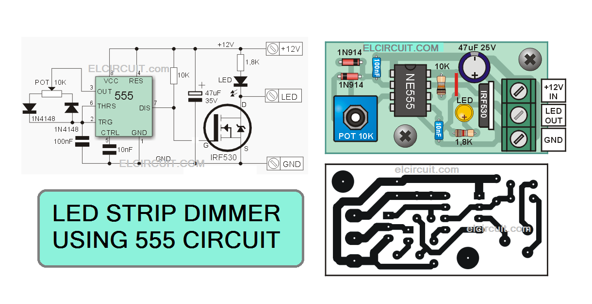 Circuit Of Dimmer High Power Led Strips Led Strip Led Dimmer