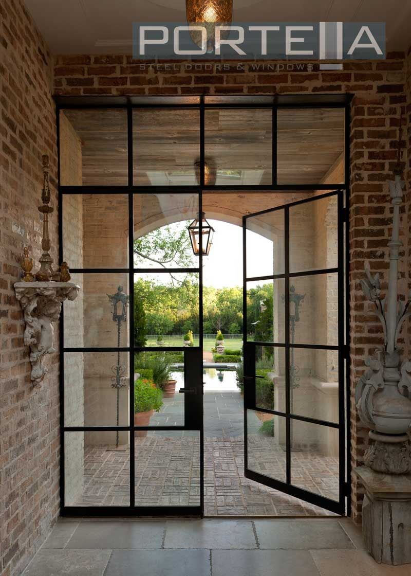Portella Custom Steel Doors And Windows Steel Doors And Windows Double French Doors Iron Doors