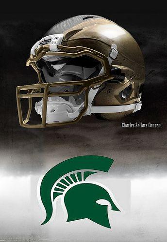 Michigan State Michigan State Spartans Football College Football Helmets Football Helmets