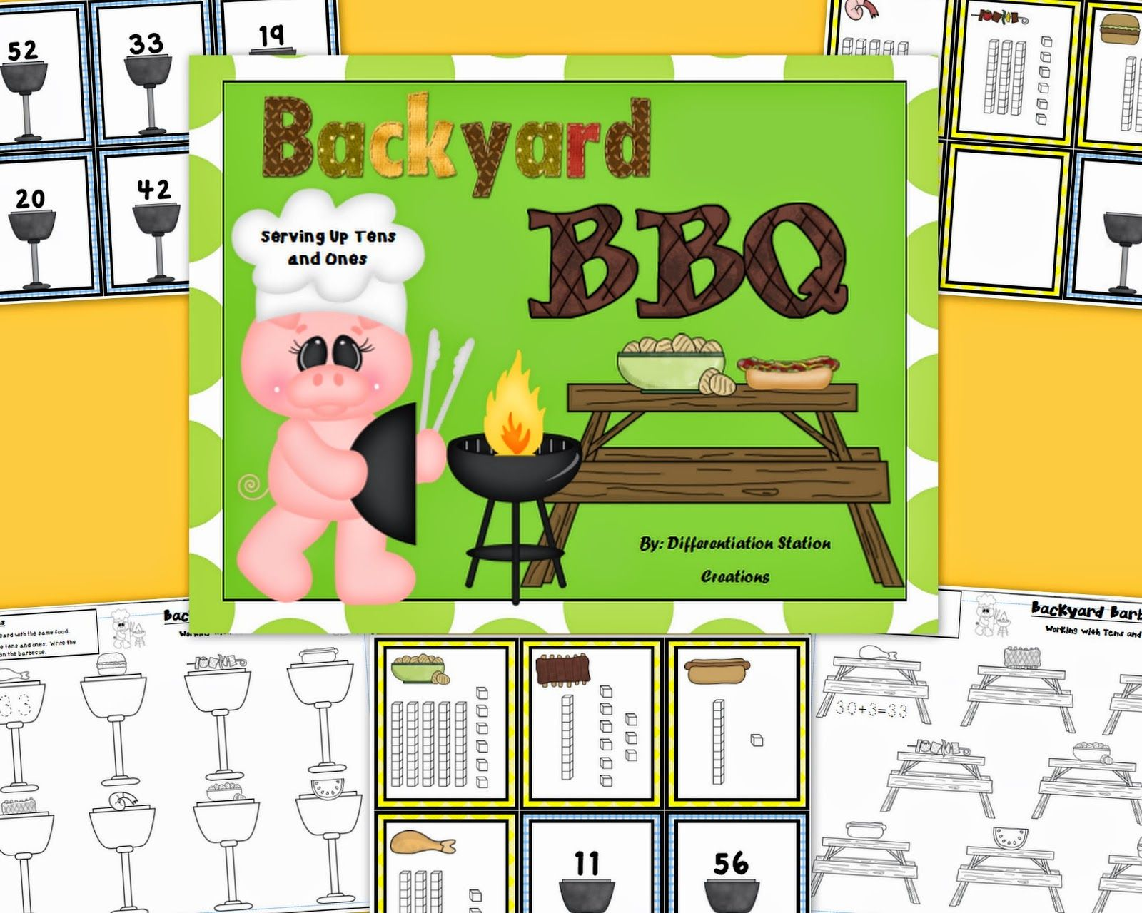 Backyard bbq matching numerals to base tens blocks center or backyard bbq matching numerals to base ten blocks tens and ones record tens falaconquin