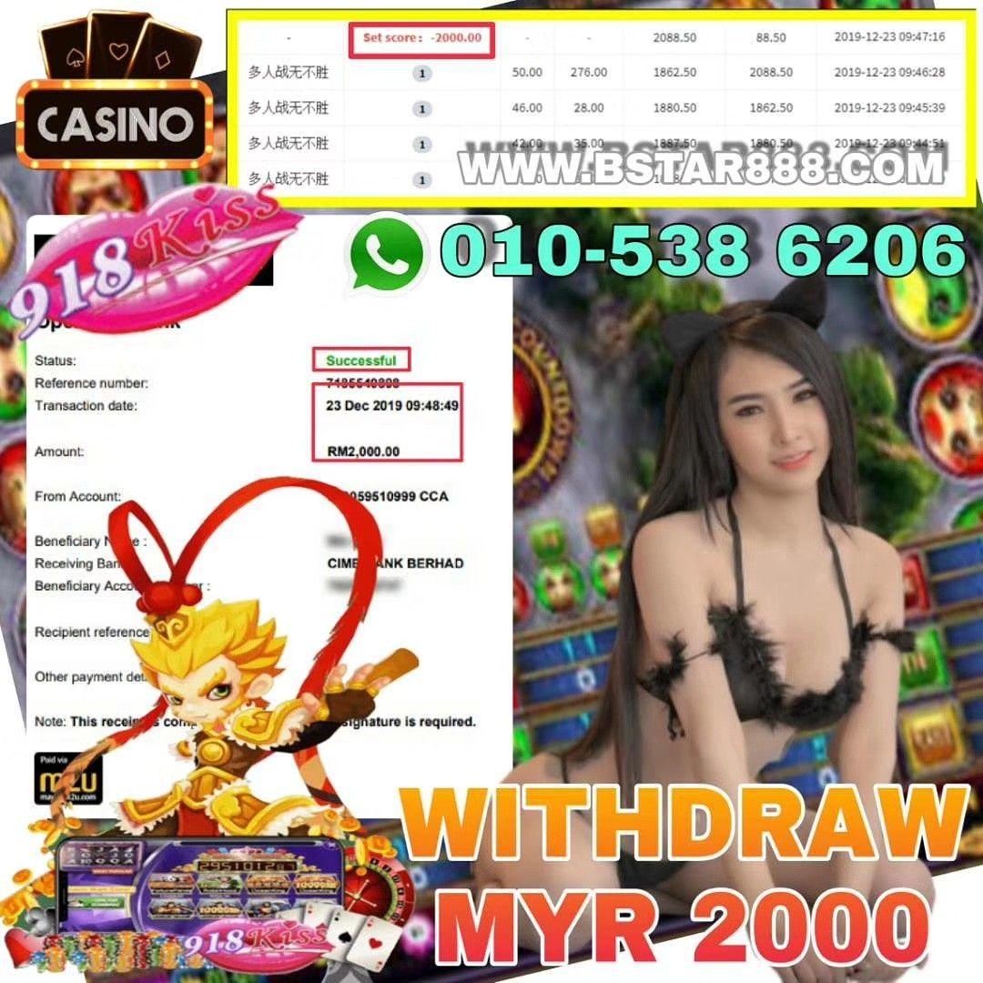 WITHDRAW RM2000 SIGN UP NOW! Welcome Bonus 30% - 50% Telegram: 010-5386206 Wechat: billionstar88…